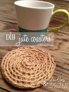 Doodles & Stitches: DIY Jute Coasters