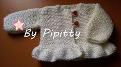 by Pipitty: CASAQUINHO DE BEBÊ COM BABADINHO Baby Cardigan, Fashion Kids, Knitting For Kids, Diy Crochet, Kind Mode, Beanie, Pullover, Hats, Sweaters