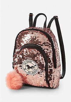 Justice Unicorn Sequin Mini Backpack for sale online My Bags, Purses And Bags, Fashion Bags, Fashion Backpack, Cute Mini Backpacks, Mini Mochila, Back Bag, Girls Bags, Backpack Purse