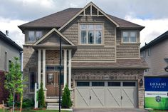 Mulberry model home in Doon Creek in Kitchener, ON. Model Homes, Photo Galleries, House Design, Cabin, Mansions, House Styles, Outdoor Decor, Centre, Home Decor