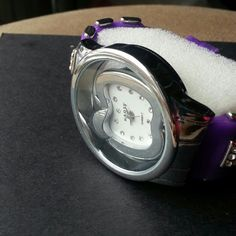 New Purple Rubber Band Watch.