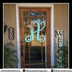 Initial Door Hanger, Initial Door Wreath,  Door Hanger Monogram, Door Hanger Wedding, Monogram Door Hanger, Monogram Door Decor, PVC Monogra by MemoryMakerStudio on Etsy https://www.etsy.com/listing/268379518/initial-door-hanger-initial-door-wreath