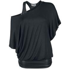 Top Imitación Piel Murciélago 2 Capas - Camiseta por Black Premium by EMP