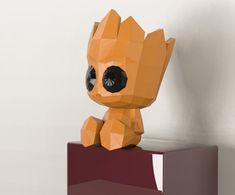 Groot Toy, Baby Groot, Art And Hobby, 3d Pen, Paper Crafts Origami, 3d Prints, Paper Models, Paper Toys, Creations