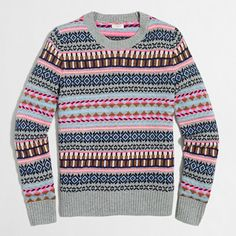 Crew Factory for the Fair Isle crewneck sweater for Women. Find the best selection of Women Clothing available in-stores and online. Sweaters For Women, Men Sweater, J Crew Tops, Outfits 2016, Best Black Friday, Wool Sweaters, Crewneck Sweaters, Clothes For Women, My Style