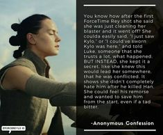 How Rey handled the first Force Time encounter.