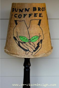 Coffee Sack Lampshade | Do It Yourself Home Projects from Ana White