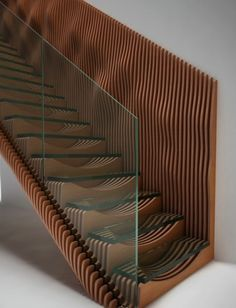 Stairs latest concept design, Slice, featuring glass treads and a TransParancy balustrade. Timber Staircase, Stair Handrail, Staircase Design, Staircase Ideas, Railings, Stair Design, Open Staircase, Grand Staircase, Wood Design