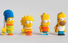 The Simpsons USB Drives are a Fun Way to Hold Your Data #simpsons trendhunter.com