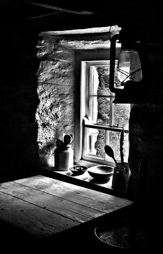 Light streaming into an old Irish cottage in Cultra, County Down, Northern Ireland — by latitude54photo