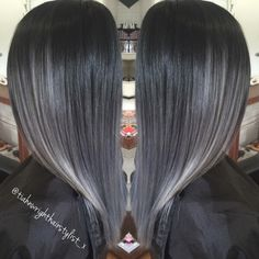 Black to grey ombré loving the Granny trend. Check out my work!