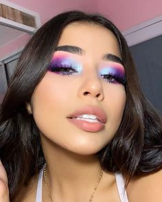 eyeshadow makeup eyeshadow colors with eye makeup eyeshadow rack makeup in hindi revolution eyeshadow palette 144 makeup ideas makeup kaise karen Pink Eye Makeup Looks, Colorful Eye Makeup, Pink Makeup, Cute Makeup, Pretty Makeup, Makeup Geek, Makeup Inspo, Makeup Inspiration, Makeup Kit