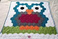 free crochet owl blanket pattern