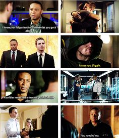 "Favorite line from 3x10? ""I still think of myself as his bodyguard."" - Marc Guggenheim #Diggle #ThisIsGonnaHurt"