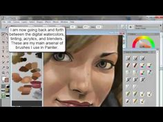 How to Draw & Paint a Portrait (of iJustine) - using Corel Painter & Wacom tablet