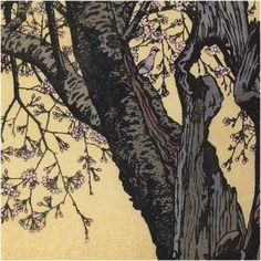 K Nakajima Woodblock Prints Basho (Toshi Yoshida (1911 - 1995) Wisteria at Ushijima, 1953)   Asian ...