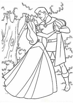 Sleeping beauty Coloring Pages  Coloring  Pinterest