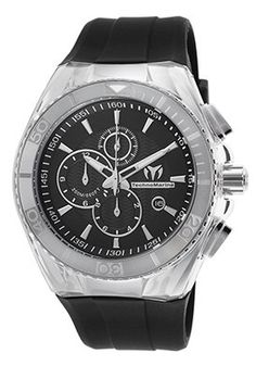 Men's Cruise Original Chrono Black Silicone and Dial Stainless Steel