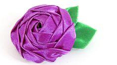 En este tutorial, aprenderás a hacer una de las rosas más elegantes que hay, hecha con cinta de raso. Más tutoriales: http://www.youtube.com/user/Gustamonton...