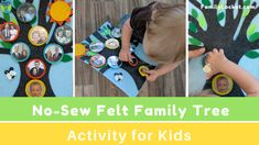 Felt Family Tree – Interactive Activity for Kids – Family Locket Genealogy Chart, Family Genealogy, History For Kids, Family History, Interactive Activities, Activities For Kids, Family Tree Chart, Family Trees, Discovery Day