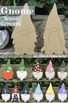 Gnome Cutouts are a popular item this year! Finish them how you would like. seasonal or for a holiday. Perfect for adults & kids. So many options.Be creative! Christmas Gnome, Christmas Wood, Christmas Signs, Christmas Projects, Christmas Decorations, Xmas, Christmas Ornaments, Handmade Christmas, Diy Arts And Crafts