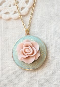 Weathered vintage style locket necklace. Antique by sweetsimple