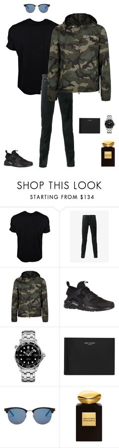"""Untitled #1010"" by r783x ❤ liked on Polyvore featuring Neil Barrett, Yves Saint Laurent, Valentino, NIKE, Armani Beauty, men's fashion and menswear"