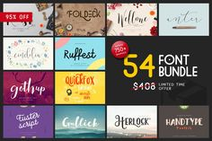Font & Graphic Bundle - 95% off by vuuuds on @creativemarket