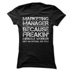 Marketing Manager Job Title