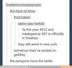 The penguins have the tardis