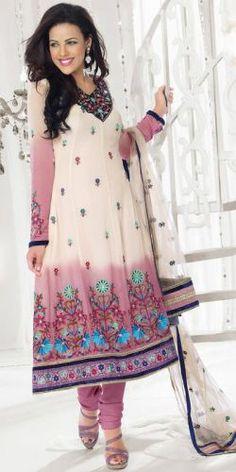 Off White Georgette Salwar Suit