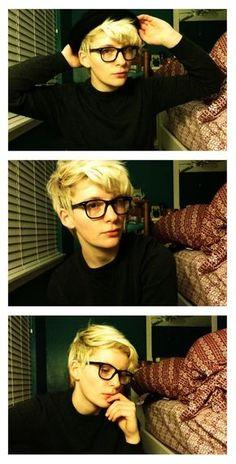 blonde & long bangs