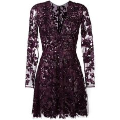 Zuhair Murad embellished floral lace mini dress (181 695 UAH) ❤ liked on Polyvore featuring dresses, mini dress, lace dress, short dresses, floral dresses and embellished dress