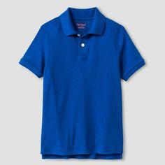 Boys' Interlock Polo - Cat & Jack, Boy's, Size: Medium, Parrish Blue