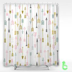 For The Kids Bathroom Black Arrow Shower Curtain Target