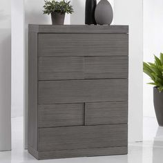 """$509 Chintaly Imports Sydney 5 Drawer Chest. 45.28"""" H x 31.5"""" W x 17.72"""" D"""