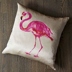West Elm Flamingo Pillow Cover