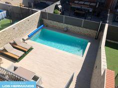Backyard Pool Designs, Small Backyard Pools, Backyard Garden Design, Terrace Garden, Small Swimming Pools, Swimming Pool Designs, Courtyard Landscaping, Exterior, Outdoor