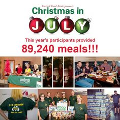This week we revealed the results of our Christmas in July Food Drive to the 85 participants from the Chandler Chamber of Commerce, Mesa Chamber of Commerce, & Tempe Chamber of Commerce. This year they collected enough food/funds for 89,240 MEALS!!! Thank you to all the businesses that participated and helped us fight hunger this summer!