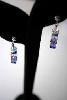 #Lavendar #Swarovski #Crystal and #Sterling by ArtistryJewelrybyAnn, $30.00 Great colour...great price!