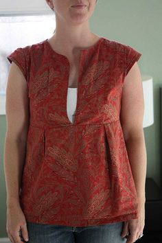 Schoolhouse tunic, cap sleeve