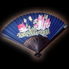 Wall Fan 28 inch Blue  Price: $9.99 Ninja Gear, Large Fan, Hand Fans, Hand Painted, Wall, Blue, Hand Fan, Walls