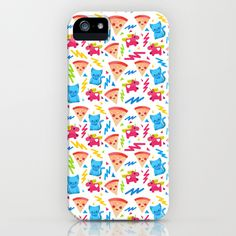 Pizza + Cats + Unicorns Version 1 iPhone & iPod Case by carlos lerma | Society6