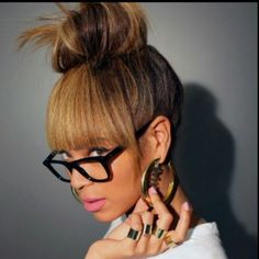 Fake It Till You Make It: Three Ways To Fake Your Bangs  Read the article here - http://www.blackhairinformation.com/general-articles/hairstyles-general-articles/fake-till-make-three-ways-fake-bangs/