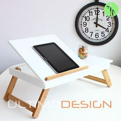BREAKFAST IN BED BAMBOO TRAY PORTABLE LAPTOP IPAD BOOK READING DESK TABLE STAND