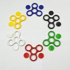 Colorful Plastic Frame for Hand SpinnerTri-Spinner Fidget EDC Fidget Spinner For Rotation Time Long Anti Stress Keep Hands Busy
