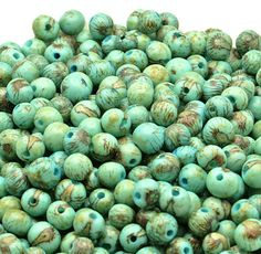 Acai Beads, Tiger Aqua Blue, 100 Acai Beads, Natural Eco Friendly Beads from the Amazon, Boho Beads, Yoga, Renewable Seeds, South American