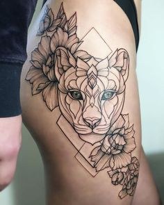 #irainkers #tattoo #linework #dotwork #cat #geometry