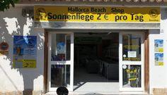 """Der günstigste,beste und freundlichste Strandliegenverleih in Paguera """"Strand Palmira"""" – mein-paguera.com Mallorca Beaches, Hotels, Shops, Restaurant, Freundlich, Shopping, Front Desk, Renting, Pool Chairs"""