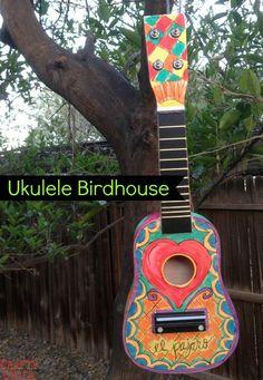 DIY Ukulele Birdhouse